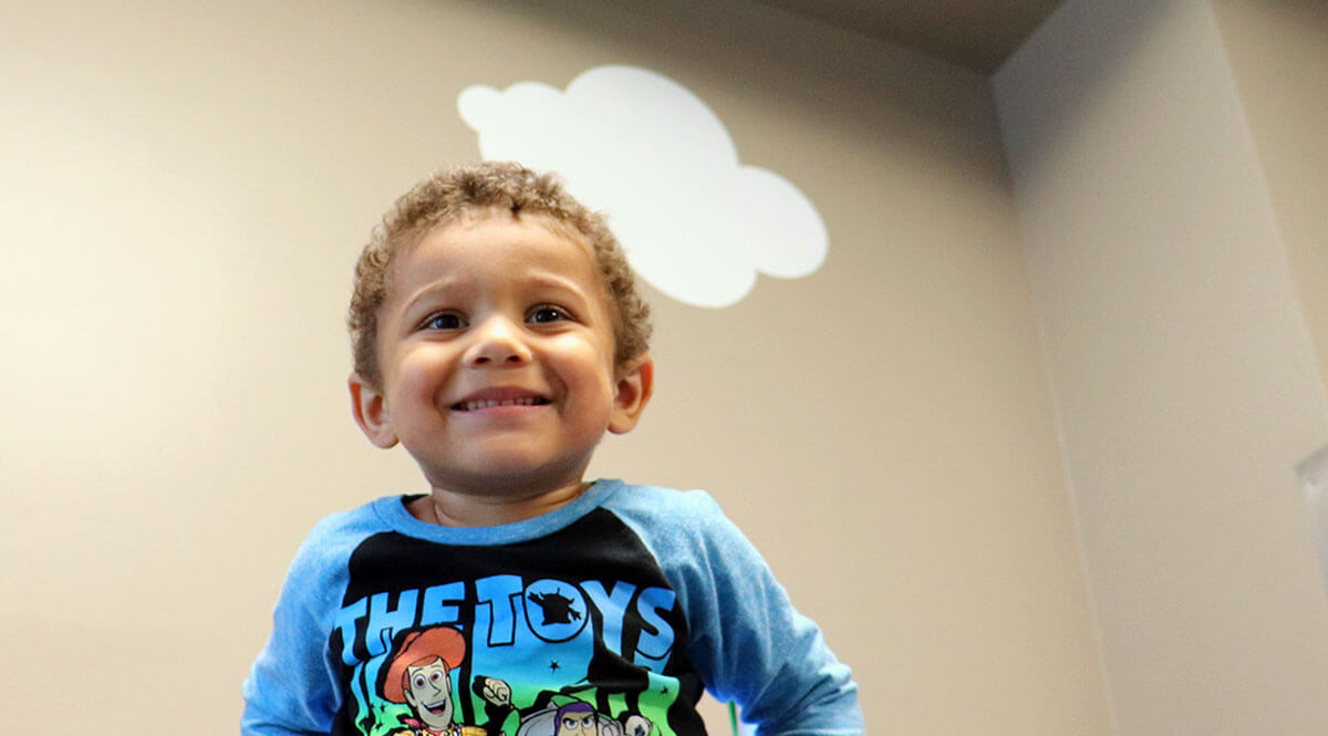 Little Boy with Autism Receiving ABA Therapy